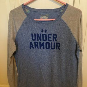 Blue and grey Under Armour shirt